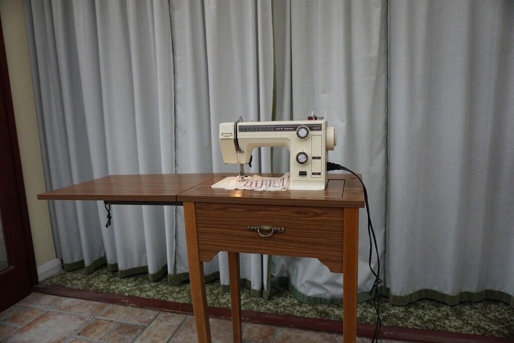 New Home Electric Sewing Machine And Table   Model 361