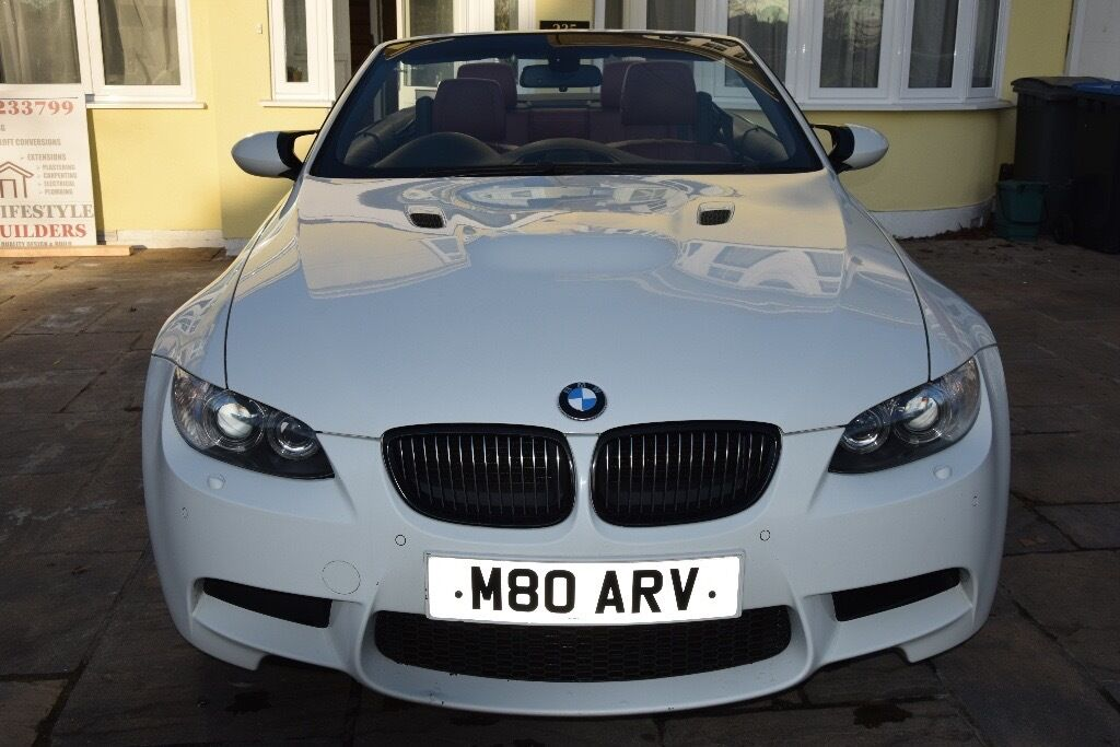Lovely BMW M3 White Convertible, Semi Automatic, RED Interior   Bargain Photo
