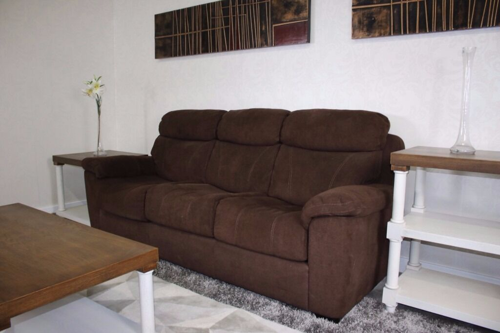 BRAND NEW FURNITURE   Costco Sofa Bed Brown   New Settee From Bradford Shop    Home