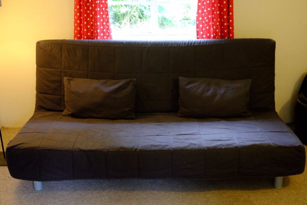 IKEA Fold Out Sofa Bed, Navy / 3 Seat Sofa Converts To