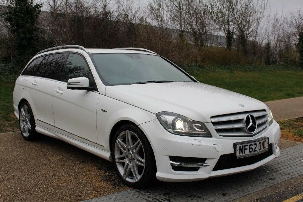 Mercedes Benz C Class C220 CDI BlueEFFICIENCY AMG Sport Plus 5dr Auto 2.2  WHITE