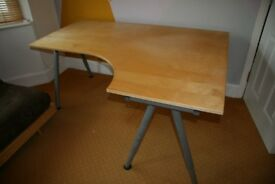 Ikea Galant Office Corner Desk / Computer Table (with Extension)