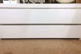 Low White Chest Of Drawers For Sale / TV Unit