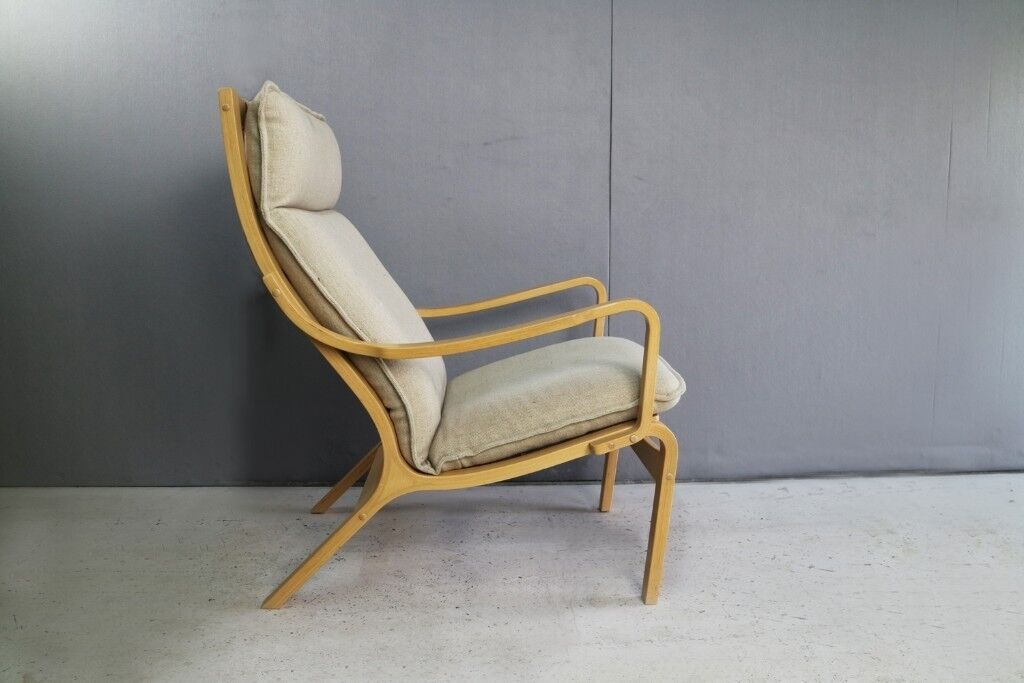 Danish 1970u0027s Bentwood Lounge Chair By Skippers Mobler