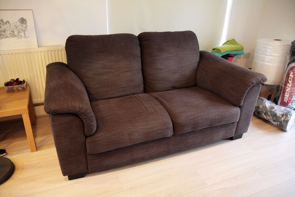 Nice IKEA TIDAFORS Two Seat Sofa In Dark Brown. Will Fit In Your Car.