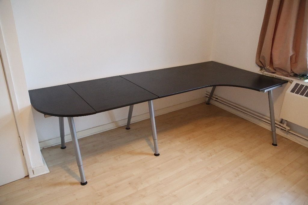 *BARGAIN, QUICK SALE* Large Black Ikea Galant Bekant Office Computer Corner  Desk Work