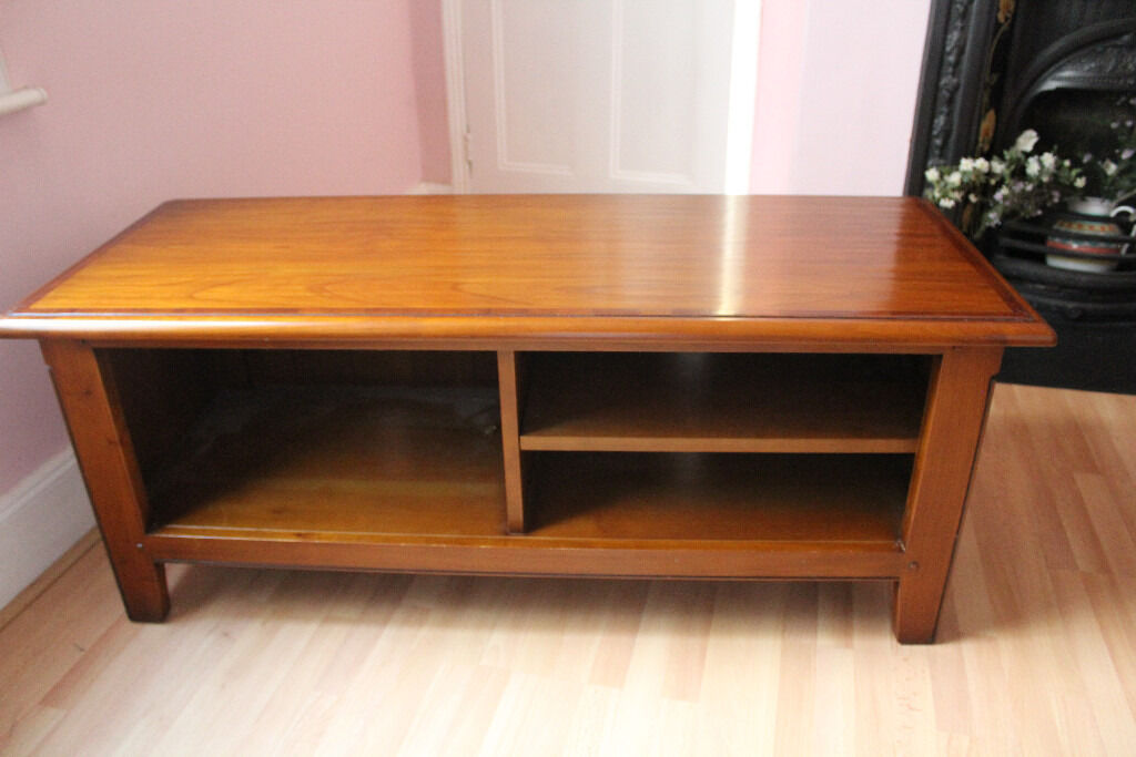 Solid Teak TV Table   Lovely Condition.