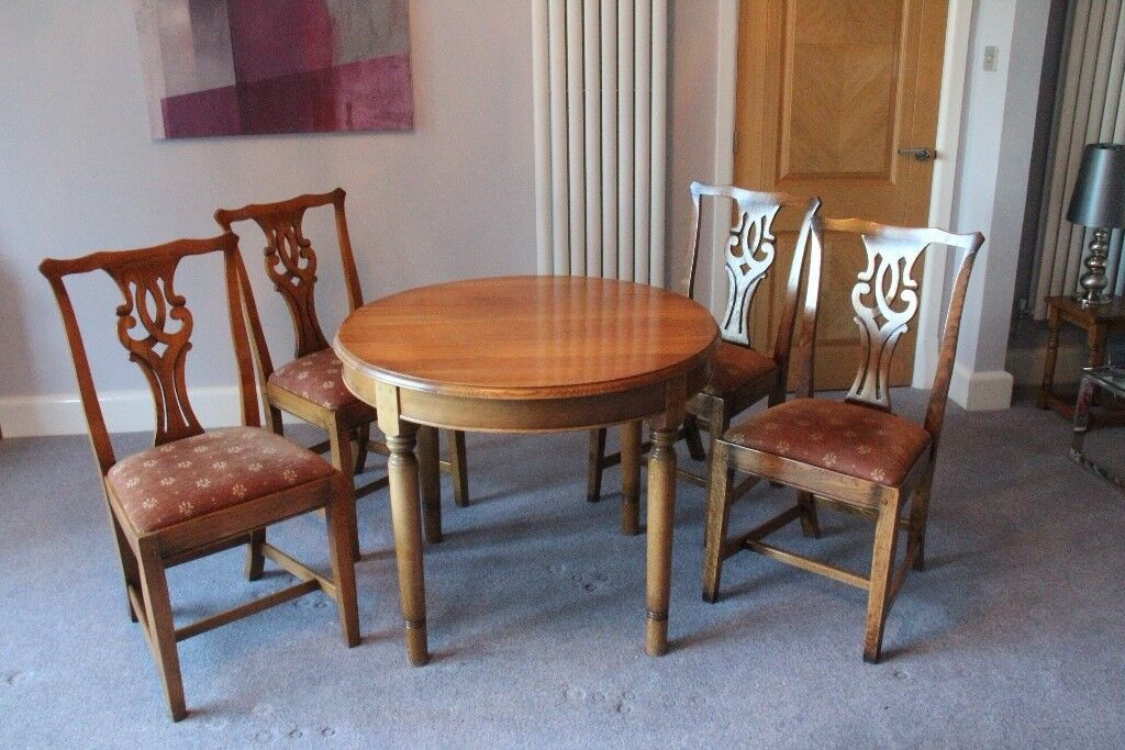 Beau DINING TABLE AND FOUR CHAIRS IN OAK BY BRIGHTS OF NETTLEBED