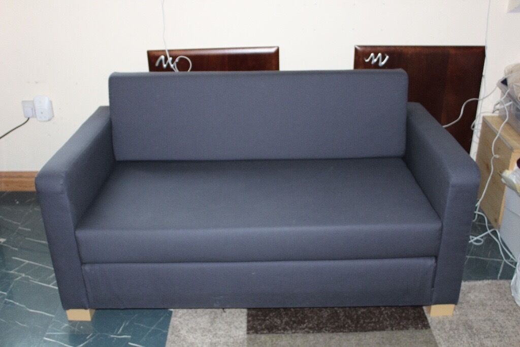 IKEA ULLVI 2 Seat Sofa Bed Ransta Dark Blue (Navy)