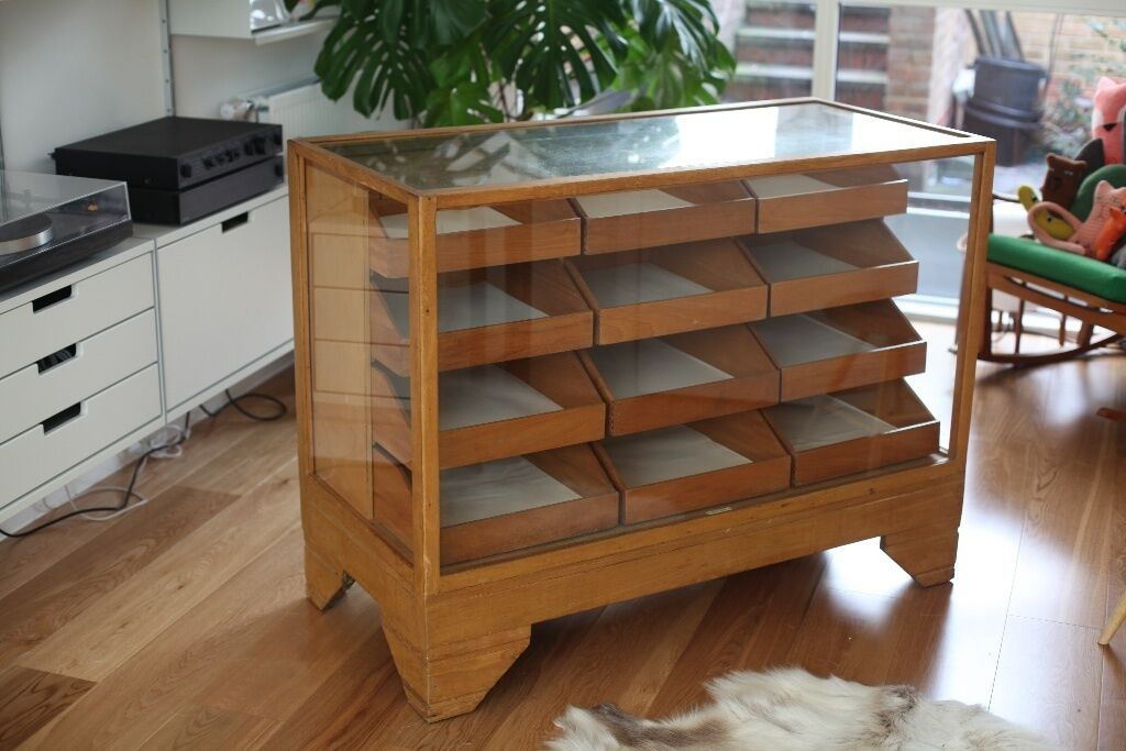Beautiful Vintage Antique Oak Haberdashery Cabinet. Made By Dudley U0026 Co  Ltd, Holloway,
