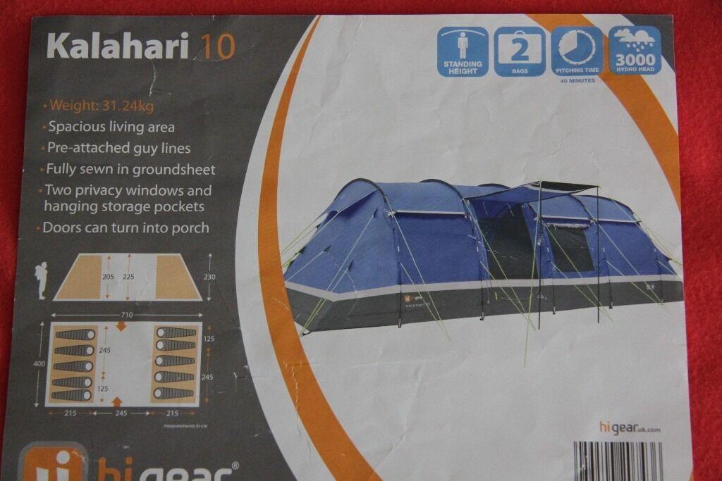 HiGear Kalahari 10 Elite Family Tent ( Bundle Deal - tent footprint carpet and & HiGear Kalahari 10 Elite Family Tent ( Bundle Deal - tent ...