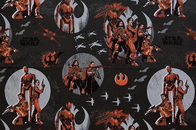 Star Wars Fabric - Rogue One Black. 100% Cotton, Quilting & Crafts