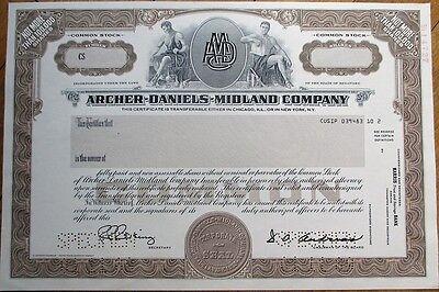 Archer Daniels Midland Company  Specimen Stock Certificate