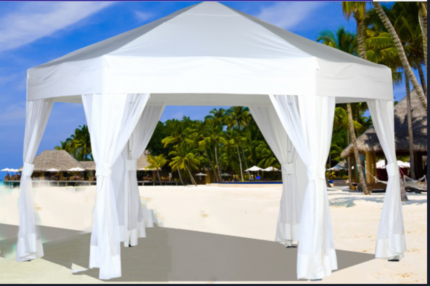 $39 marquee hire, $6 tables & $1 chairs
