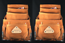 10 pkt Carpenter Leather Electrician Nail & Tool pouch Waist Belt Bag - 2 PK