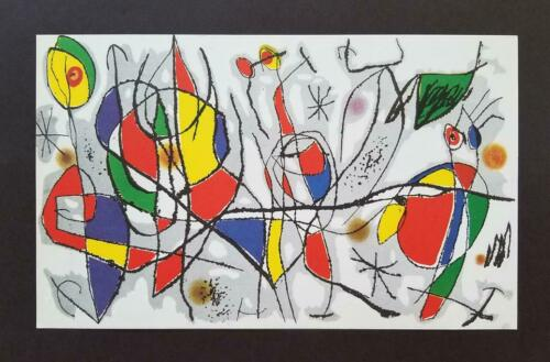 """Joan Miro """"The Sunday Guest""""  Mounted Color offset Lithograph Limited ed 1972"""