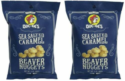 Buc-ees Sea Salted Caramel Beaver Nuggets, Gluten Free, (2 PACK)