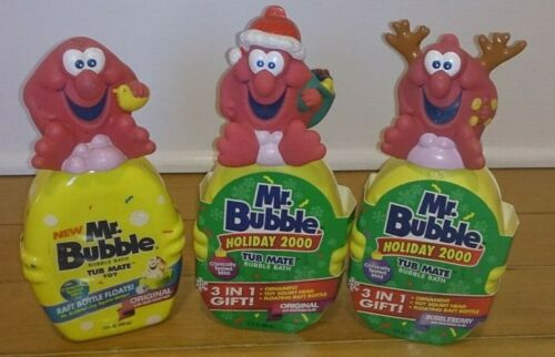3 Mr. Bubble Vintage 2000 Raft with Ornament Squeeze Tops