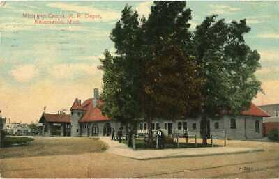 Michigan ~ KALAMAZOO ~ Michigan Central Railroad Depot Postcard 13403 for sale  Shipping to Canada