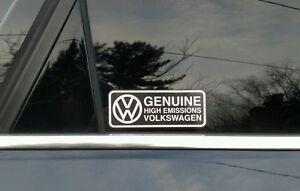 Volkswagen Genuine Emissions EPA Diesel Dieselgate TDI Decal Sticker For Fun