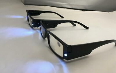 2 Pair Reading glasses with LED light and a box strength +1.00-4.00 - Glasses With Led