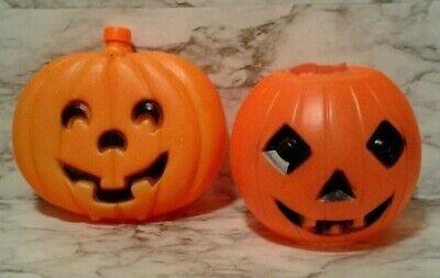 2 Vintage HALLOWEEN Pumpkin Jack o' Lantern BLOW MOLDS & HONEYCOMB Hanging Ball