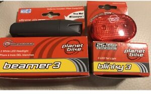 Planet waves bicycle led headlight and tail light