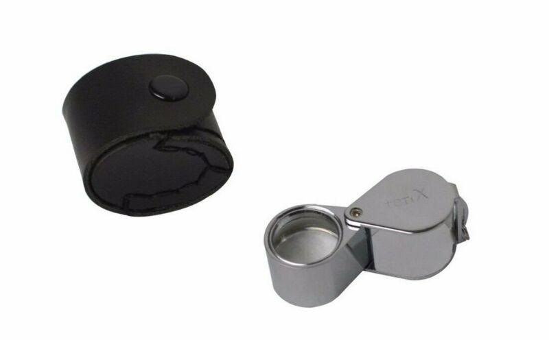 18 MM - 10X Silver Triplet Eye Loupe Jewelry Diamond Inspection Magnifier
