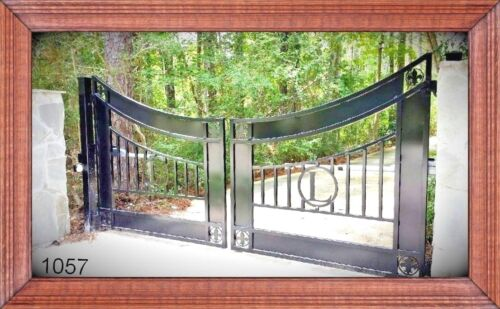 Residential & Commercial Ornamental Iron Driveway Entry Gate 14 Ft WD Dual Swing