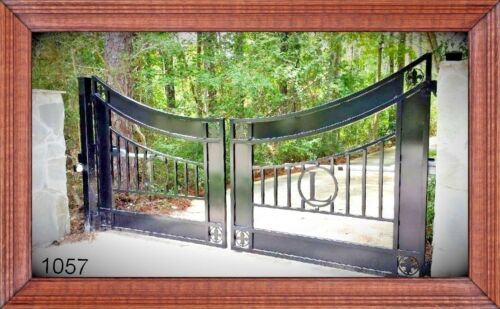 Ornamental Wrought Iron Style Steel, Residential Driveway Entry Gate 16 Ft Wd Ds