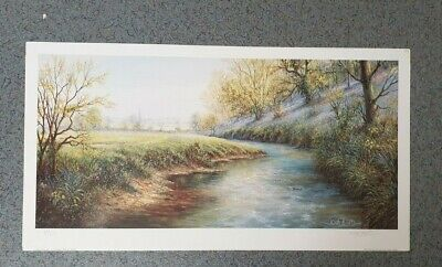 Countryside ,River ,Field ,Keith Bast , Landscape, Limited Edition, Art Print