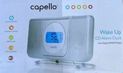 Very Good: CAPELLO WAKE UP ALARM CLOCK w/CD Player + Digital AM/FM Radio (X/Z)