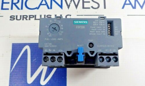 SIEMENS 48ATD3S00 ESP200 SOLID STATE OVERLOAD RELAY 5.5-22 AMP