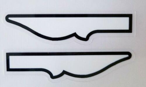 """1/4"""" White Vinyl Endpoints, 2 Pair (2L/2R)  ST09"""