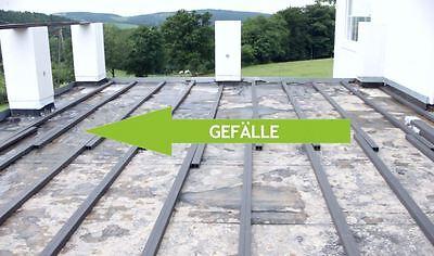 Legen Sie Ihre Terrasse mit dem vorgegebenen Gefälle in Dielenrichtung vom Gebäude weg.