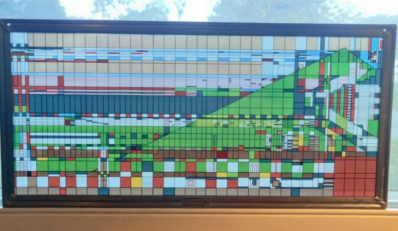 Frank Lloyd Wright Foundation - Stained Art Glass Panel - Rare Image