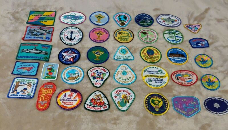 Lot of 37 Vintage Girl Scout Patches Different (90