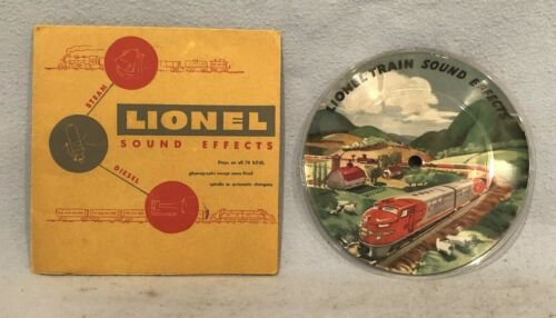 Lionel 78 RPM Sound Effects Picture Record With Sleeve