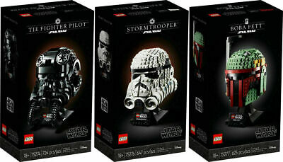 LEGO Star Wars Ultimate Collectors Helmets New Sealed Complete Set of 3