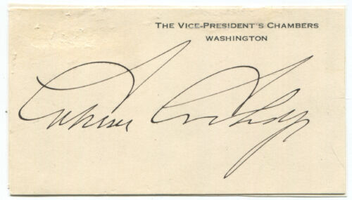 1922 Calvin Coolidge Signed White House Card as Vice President