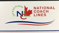 Motor Coach company for sale. National Coach Lines.