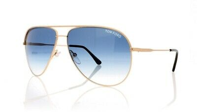 Tom Ford Erin TF 466 29P Aviator Sunglasses 61 12 140 Gold Blue Gradient Lens