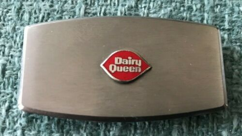 WOW! Dairy Queen Enamel Stainless Money Clip Pocket Knife JAPAN Ice Cream Cone