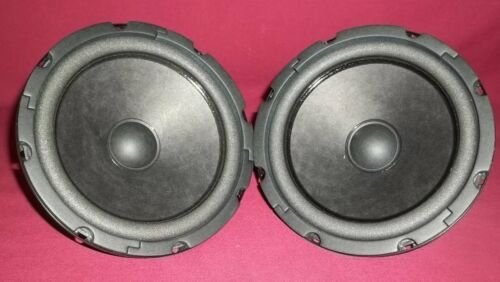 "NEW PAIR Aura Sound NS6-255-4A 6"" Loudspeaker Paper Cone Neodymium Magnet Woofer"