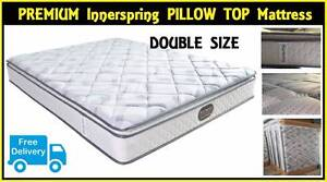 FREE DELIVERY Double Size Bed Ensemble Pillow Top Mattress + Base New Farm Brisbane North East Preview