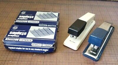 2 Vintage Bostitch Staplers  Staples - Excellent Condition
