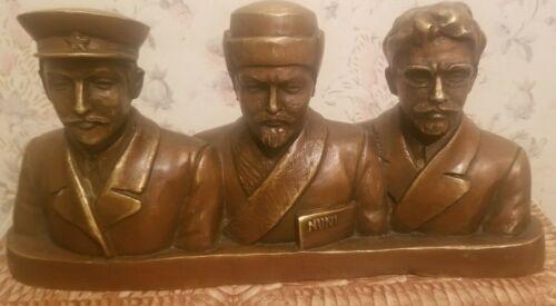 1920 Kaganovich Lenin Trotsky statuette rare leaders USSR propaganda communist