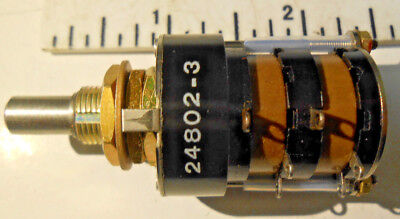 24802-3 Grayhill Rotary Switch 11528 Volts New Old Stock