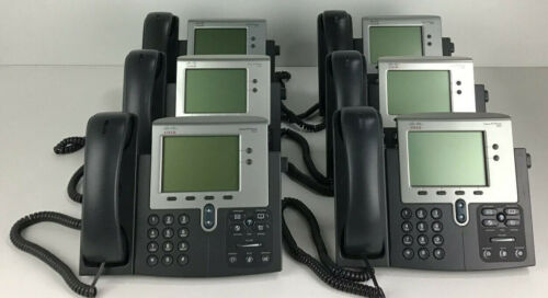 LOT OF 6x CISCO 7942 CP-7942G IP Business VOIP Phone Telephone FREE SHIPPING