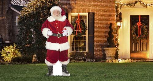 Ho Ho Santa Standee Outdoor Yard Sign Holiday Decor Christmas Gift W/ Yard Stake